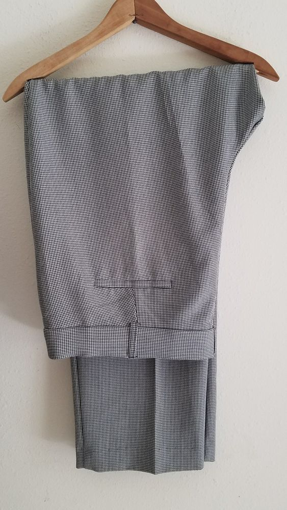 Details About Womens Plus Size Dressbarn Bw Houndstooth Dress Pants