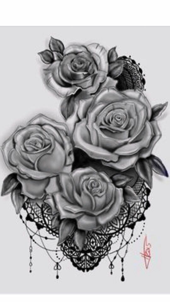 Roses Henna Style Tattoo Tattoos Pinterest Tattoos Lace