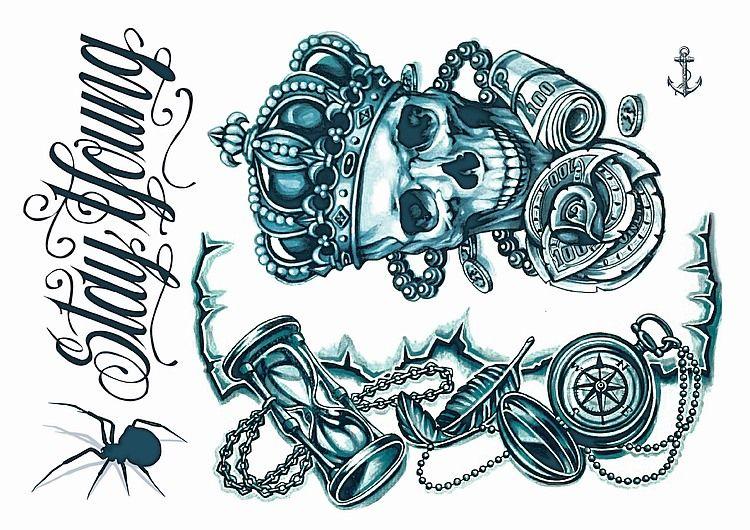 Temporary Tattoos Australia Gangsta Sytle Day Of The Dead Temporary Tattoos Mayan Tattoos Gang Tattoos Tattoos