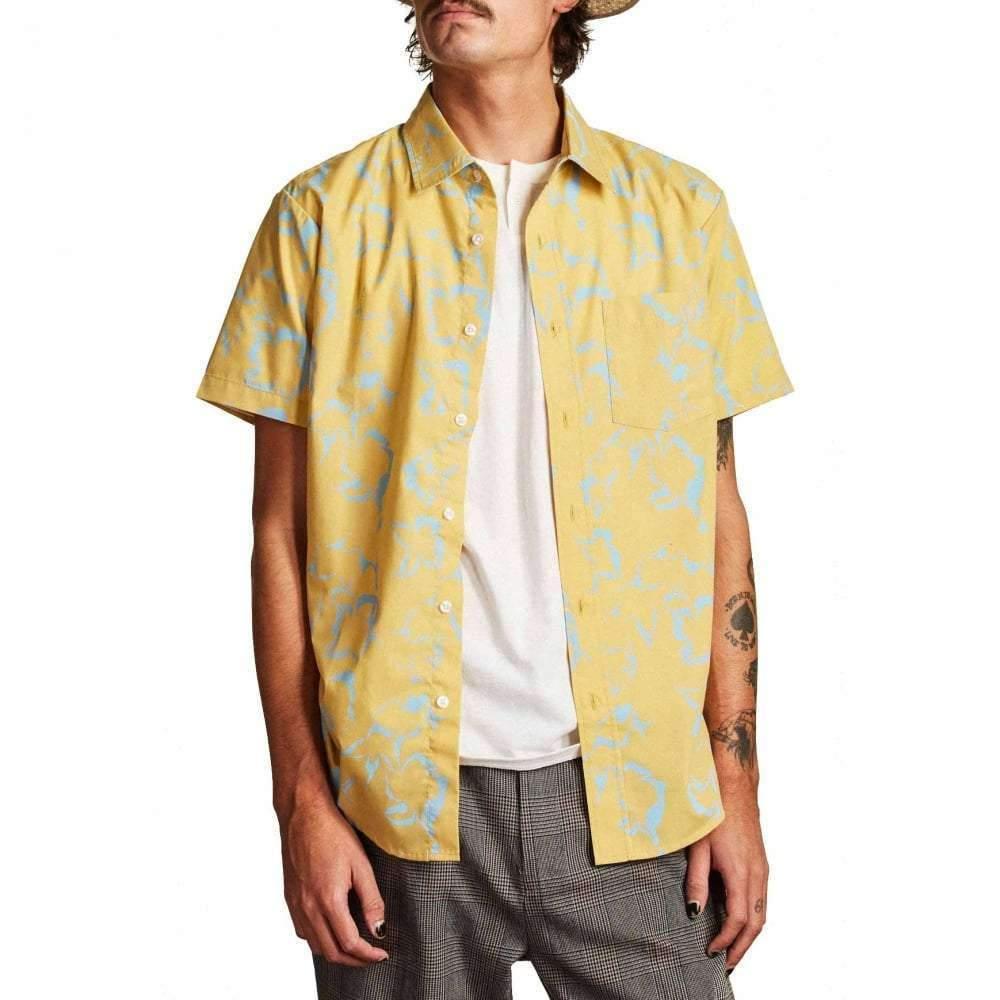 Brixton Mens Stuart Standard Fit Short Sleeve Woven Shirt