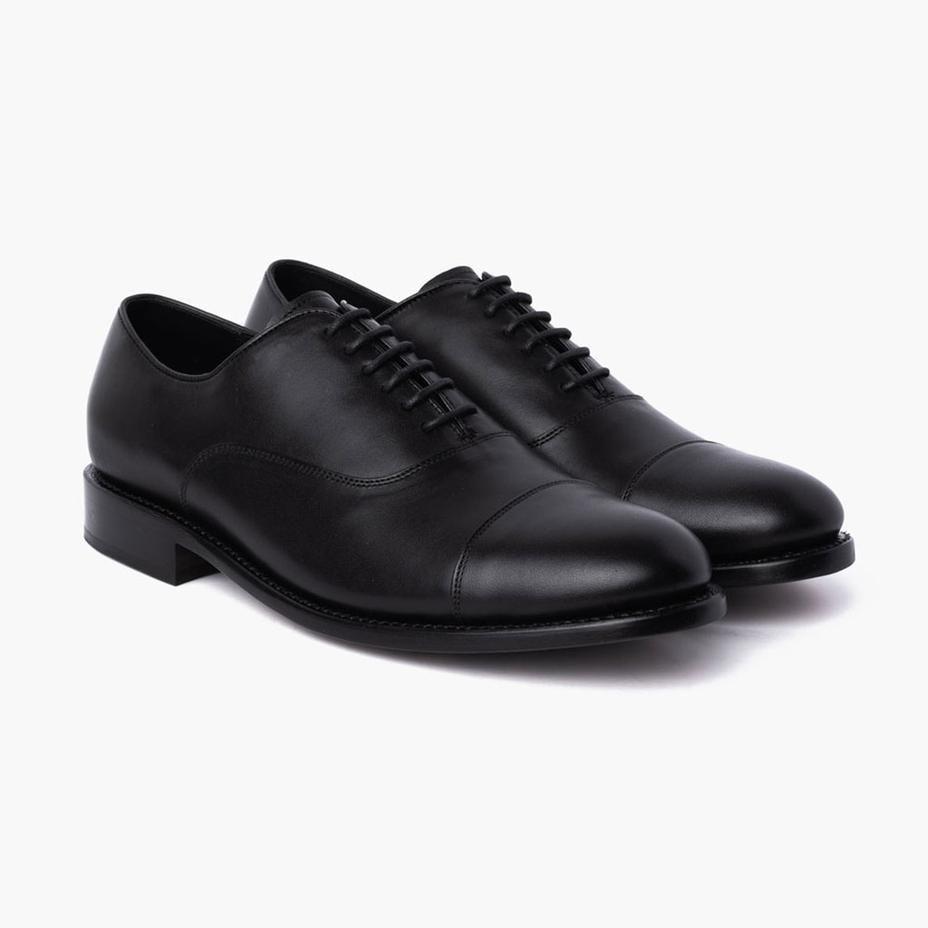 Men S Black Executive Cap Toe Dress Shoe Thursday Dress Shoes Men Lace Dress Shoes Formal Shoes For Men [ 928 x 928 Pixel ]