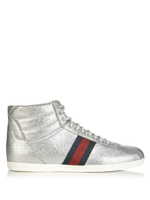 0a85d4cf40ba6 GUCCI Bambi Glitter High-Top Trainers.  gucci  shoes  sneakers ...