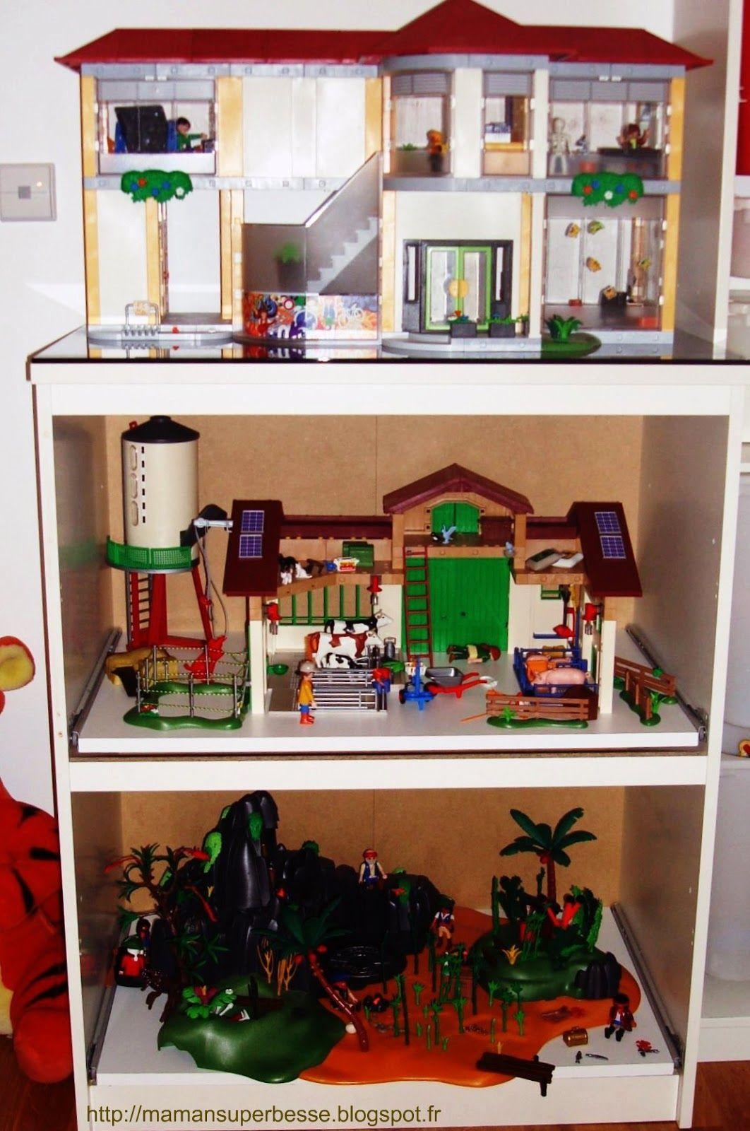 Meuble Playmobil Organisation prêt à jouer ! Rangement
