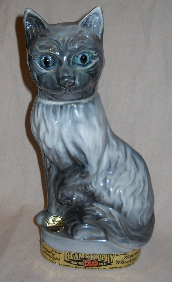 1967 Jim Beam Cat Liquor Decanter By Regal China From