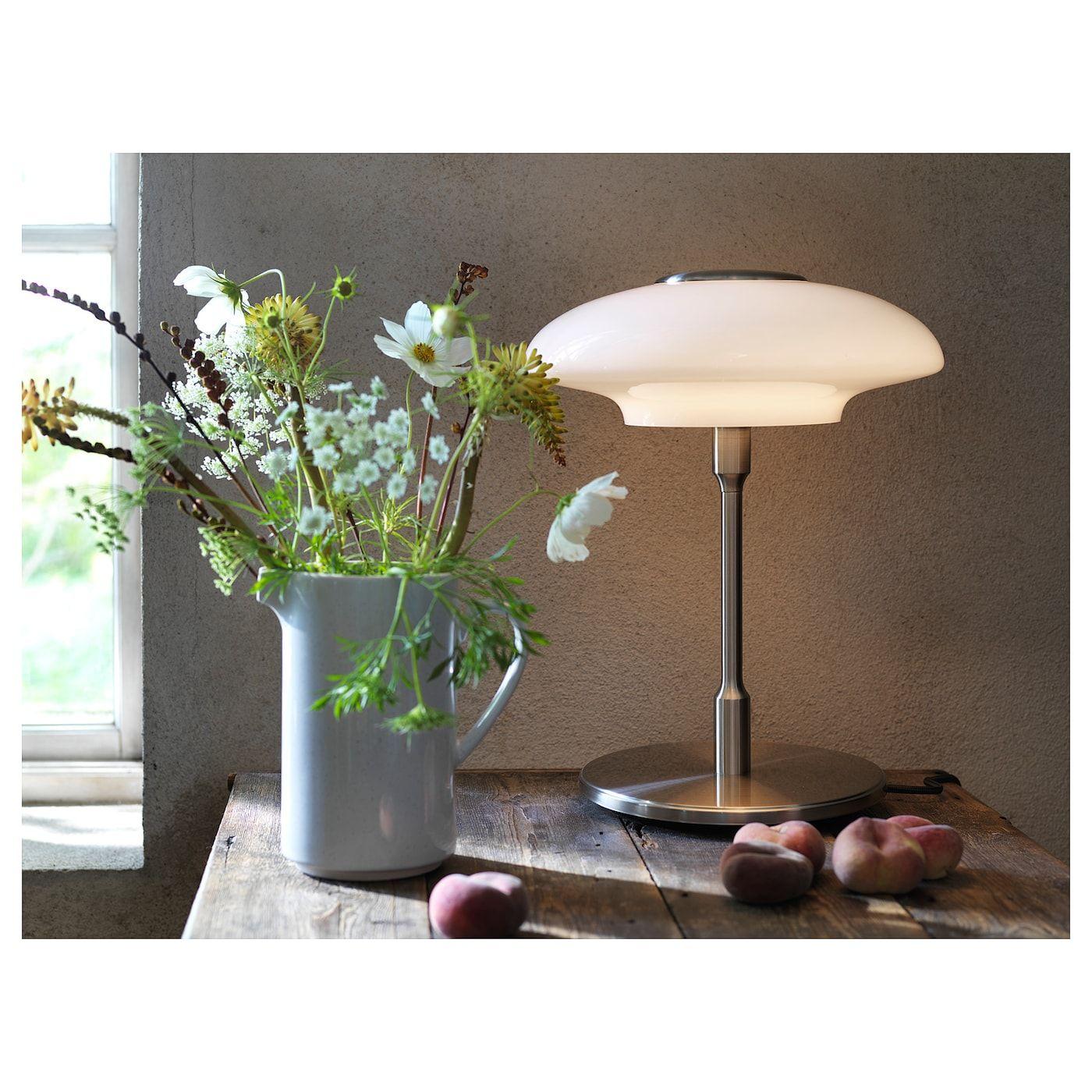 TÄLLBYN Tafellamp, vernikkeld, opaalwit glas, 40 cm IKEA