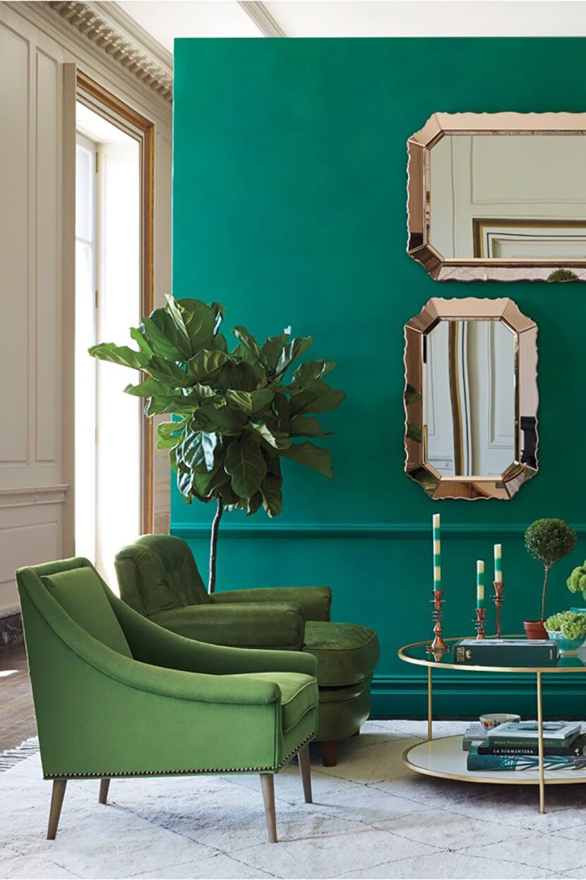 Color Clash Emerald And Teal Shop The Look Emily Henderson Teal Room Decor Living Room Green Teal Living Rooms #teal #and #burgundy #living #room
