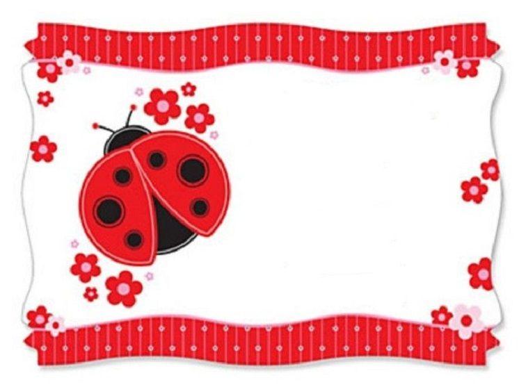 ladybug baby shower invitations template free Party Invitation