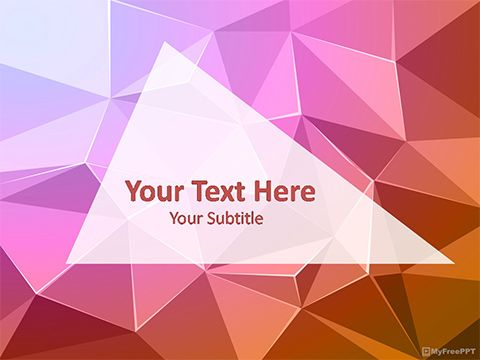 Download Ready To Use Free Abstract Triangles Powerpoint Template