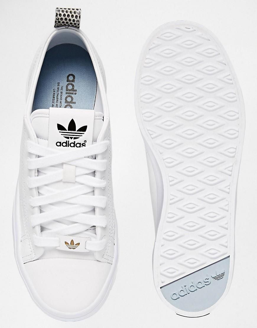 buy online e72fe 5d4fc Adidas   adidas Originals Honey 2.0 White Trainers at ASOS