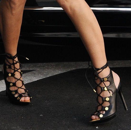 Kourtney K. in Tom Ford sandals.