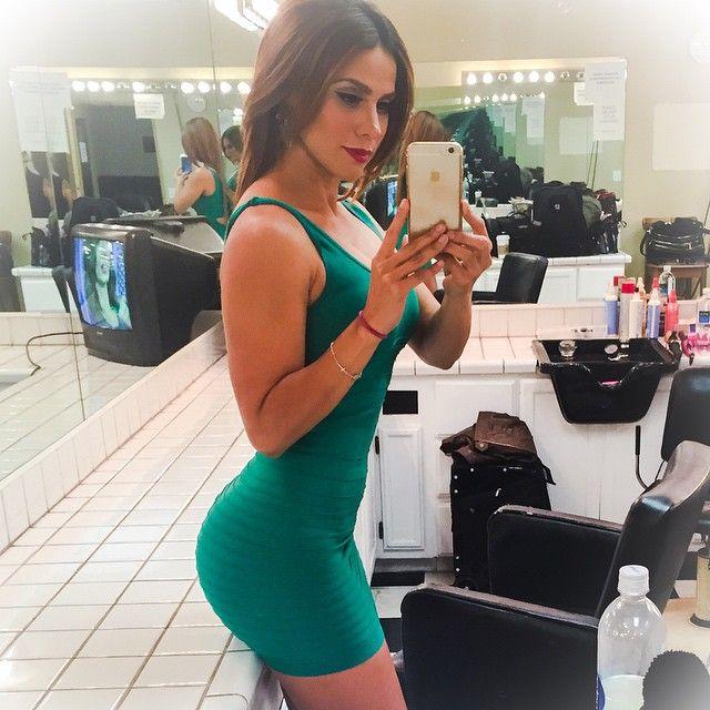 Dressing room selfie for Selena spice