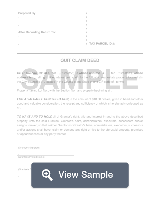 Free Quit Claim Deed School Jobs Business Mentor Word Template