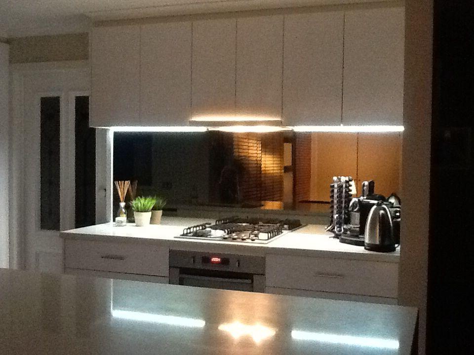 Love my new bronze mirrored splashback ! | Kitchen ...