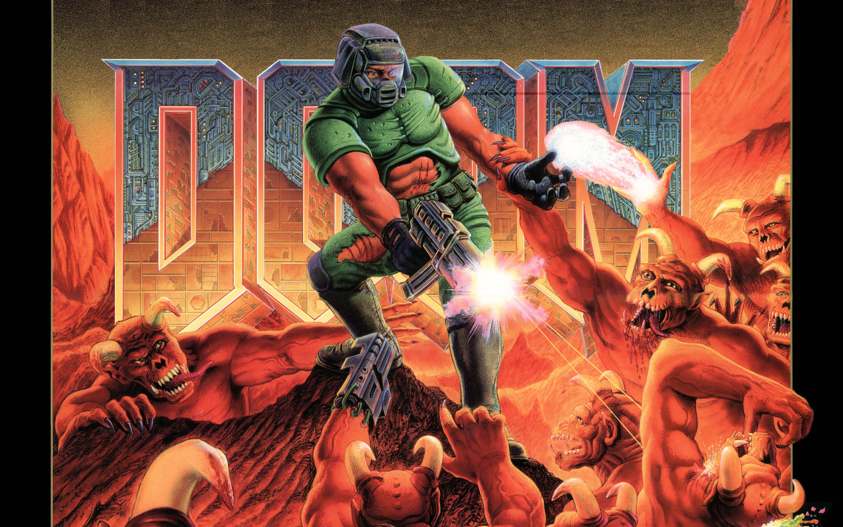 Doom 4 Cover Art Wallpaper Games/Fantasy Doom 1993