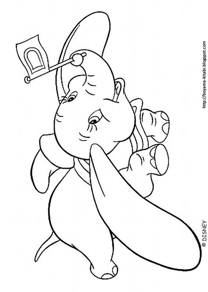 Ucan Fil Bumbo Boyama Dumbo Coloring 01 Boyama Sayfalari