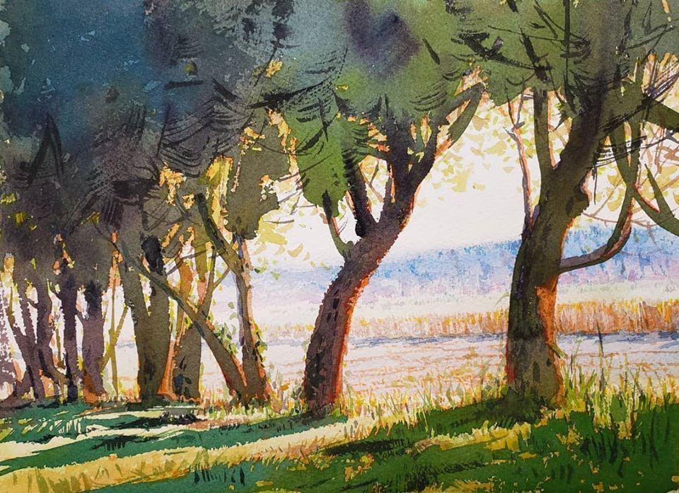 Yong Hong Zhong · Plein air painting near Lusher Farm in