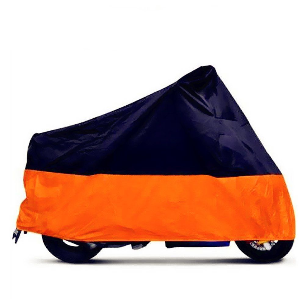 Tokept Black And Orange Waterproof Sun Motorcycle Cover Xxxl 116 For Honda Kawasaki Yamaha Suzuki Harley Davidson Motorcycle Cover Vehicle Covers Motorcycle