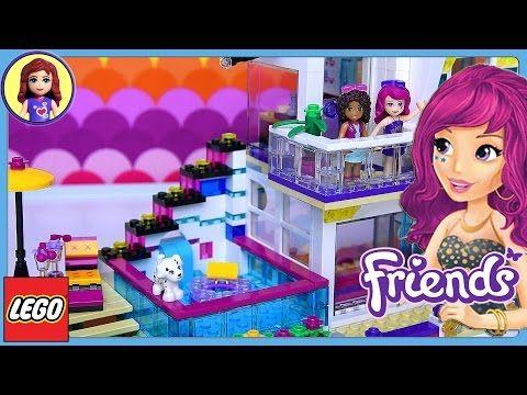 Lego Friends Livis Pop Star House Set Build Review Play Kids Toys