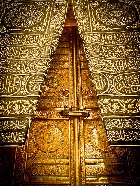 Door Of Holy Kaaba Islamic Art Masjid Al Haram Islam