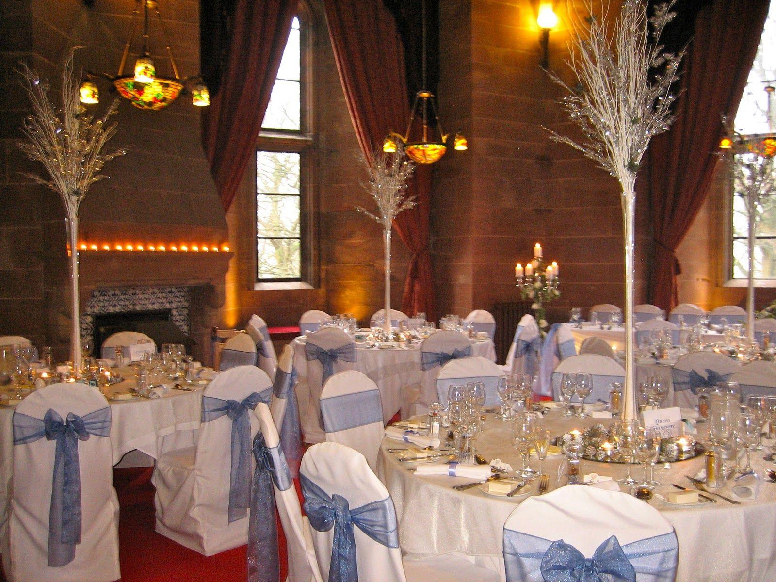 cornflower blue wedding centerpieces Stephanotis