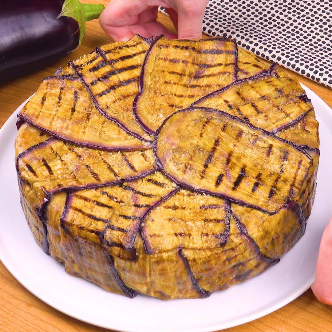 Pastakuchen mit Grill-Aubergine  – Was koche ich heute Mittag? Rezepte für Abendessen, Mittagessen, Hauptmahlzeiten
