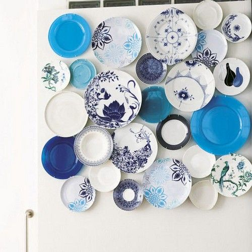 #DIY plate collection. Love the color theme.