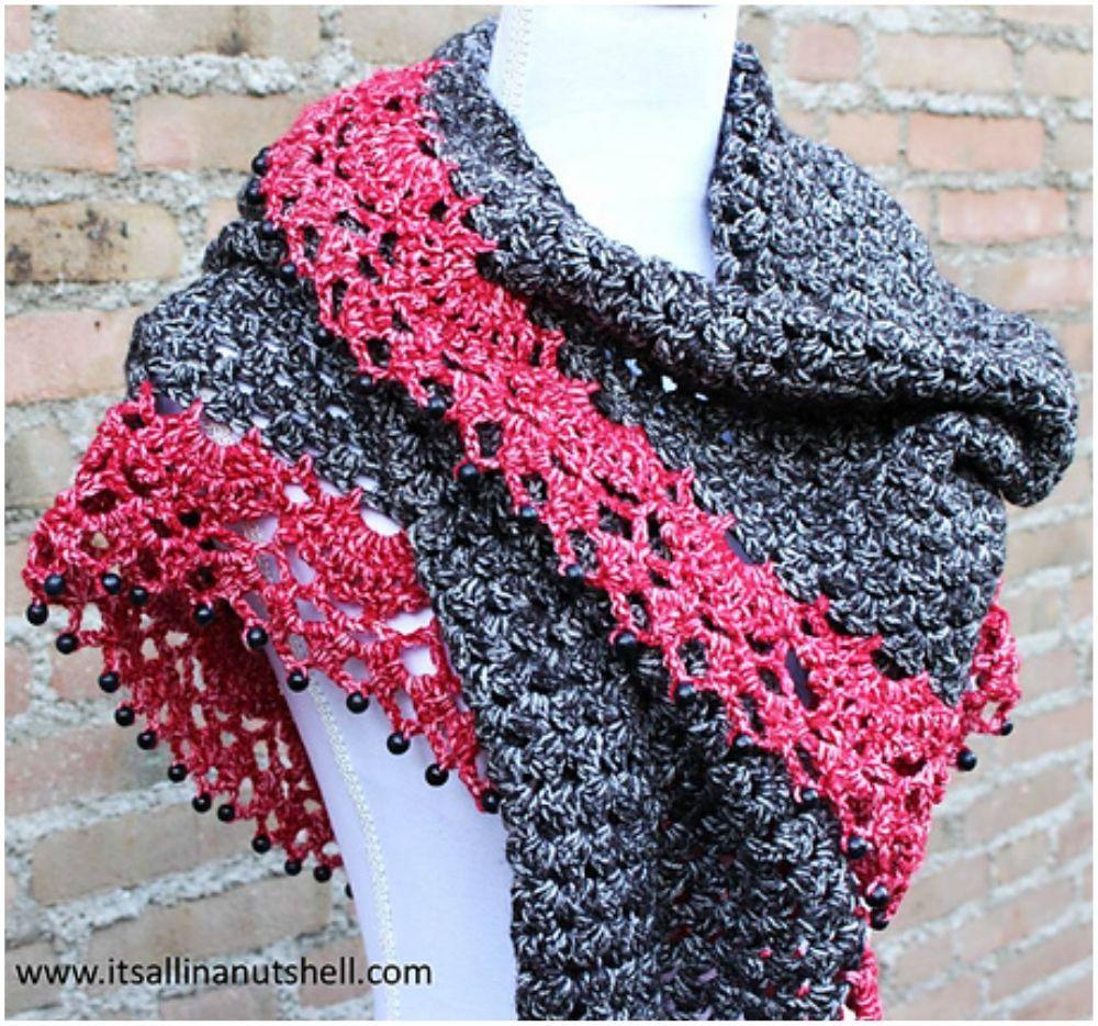 Touch of Velvet Wrap - Free Crochet Pattern #crocheting ...