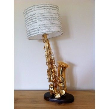 Lesser-Spotted A Vintage Non-playing Saxophone Lamp and Shade ...