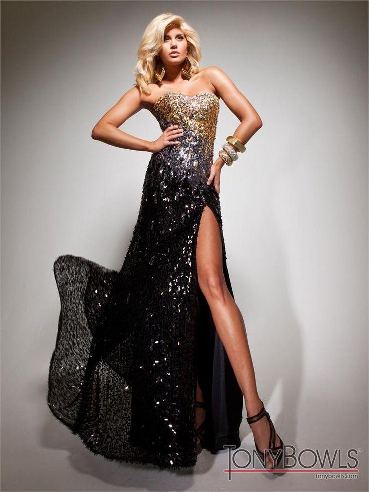 Black and gold prom dress 2013 | Beautiful dresses | Pinterest ...
