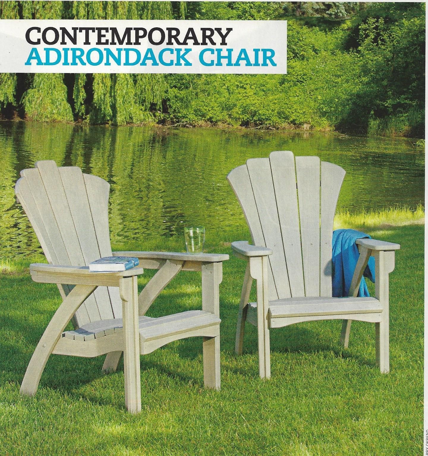 Woodworking Plans How To Build CONTEMPORARY ADIRONDACK CHAIR Sleek Modern