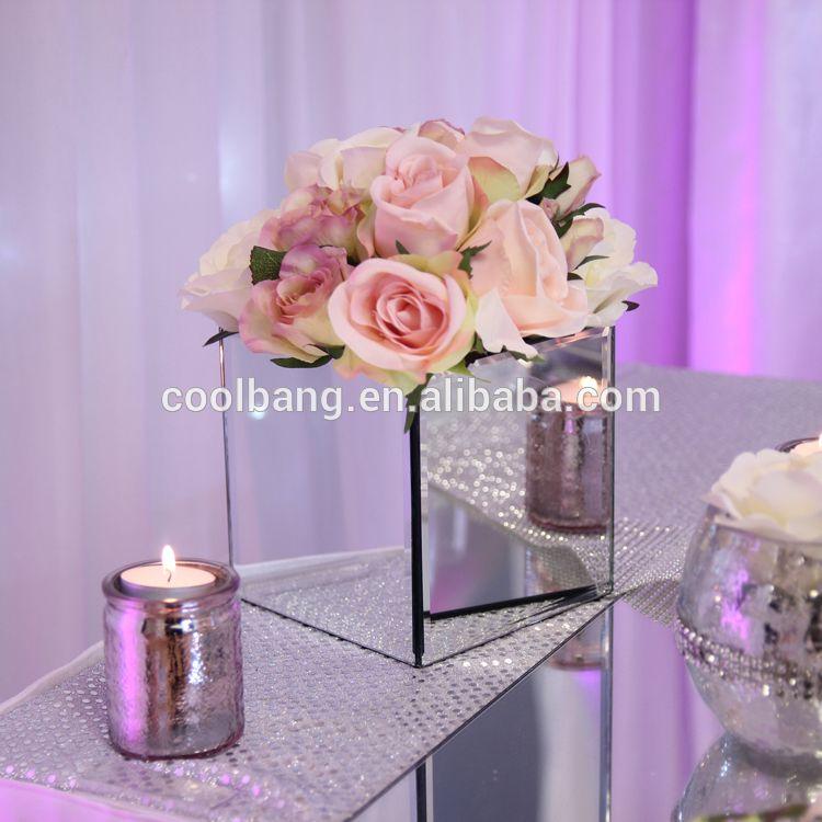 Funky Art Deco Square Mirror Vase For Mirror Vase Centerpieces Mirror Vase Centerpiece Wedding Centerpieces Centerpieces