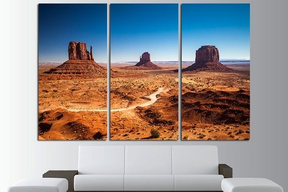 Monument Valley Large Canvas Wall Art Print Valley Print Etsy Landscape Canvas Art Landscape Wall Art Large Canvas Wall Art