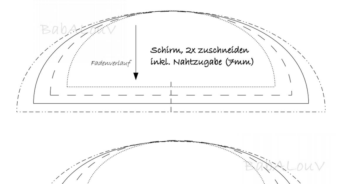 Schnittmuster Mütze BabALouV.pdf | Hut | Pinterest | Schnittmuster ...