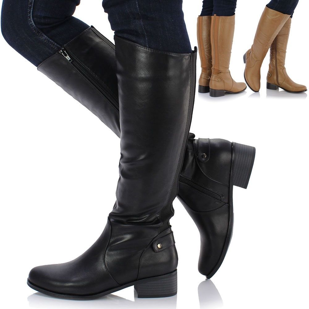Womens Winter Boots  Knee High  Lace-up Boot Shoes  High Tube  High-Heeled Riding Boots