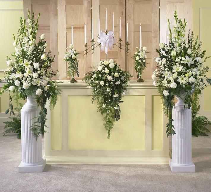 Church Altar Flowers For Weddings: Wedding-Arrangements-001