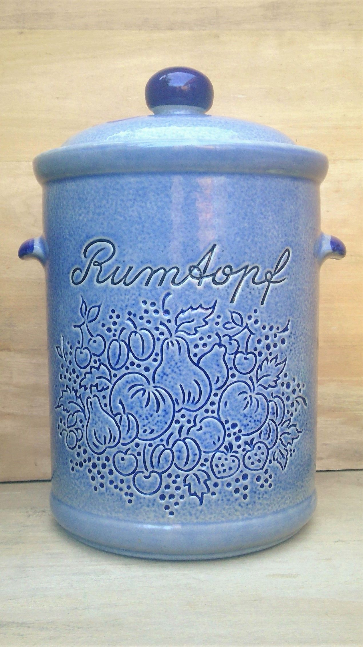 Vintage RUMTOPF by MARZI & REMY West German Pottery in Blue-Grey ...