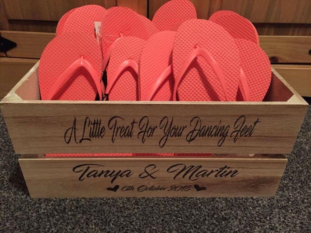 Wooden Shoe Basket Crate Box Storage Shoe Personalised