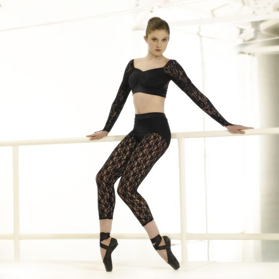 Star/P3049 - Lace leggings from Danceforce