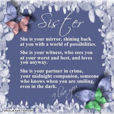 Pin By Angie Thomas Blum On To Michelle Sister Quotes Sister