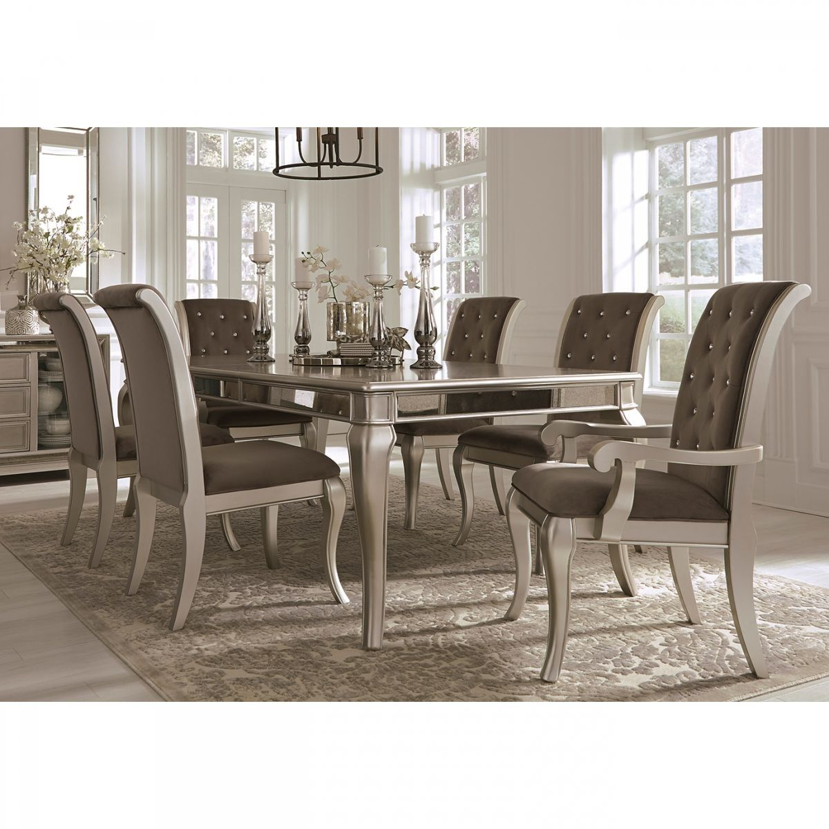 Give your house a new, fresh look with this sim. Badcock & More | Birlanny Silver 7 PC Dining Room | Dining ...