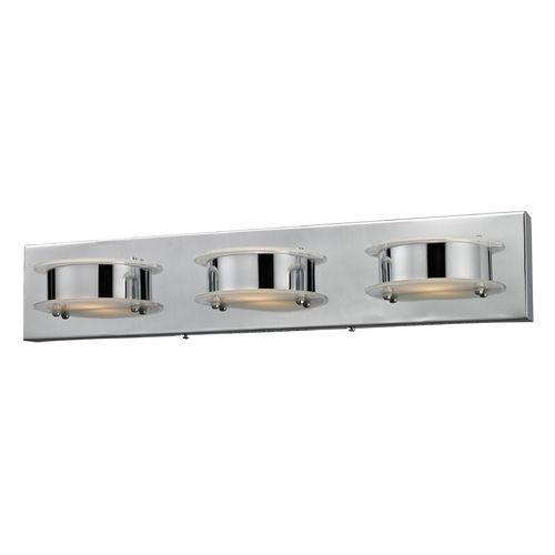 Elk Lighting Modern Led Bathroom Light In Chrome Finish 81012 3 Destinat Led Bathroom Vanity Lights Bathroom Vanity Lighting Contemporary Bathroom Lighting