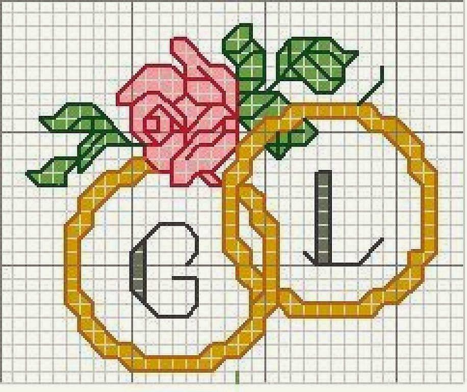 Ba l de punto de cruz motivos para bodas y aniversarios - Muestras y motivos punto de cruz ...
