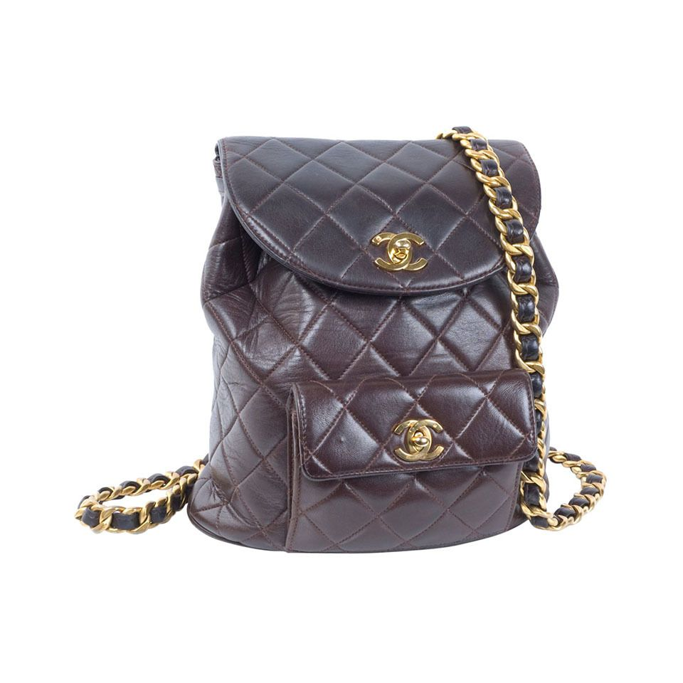 Chanel Brown Calf Leather Backpack 1stdibs Com Leather Backpack Chanel Bag Leather
