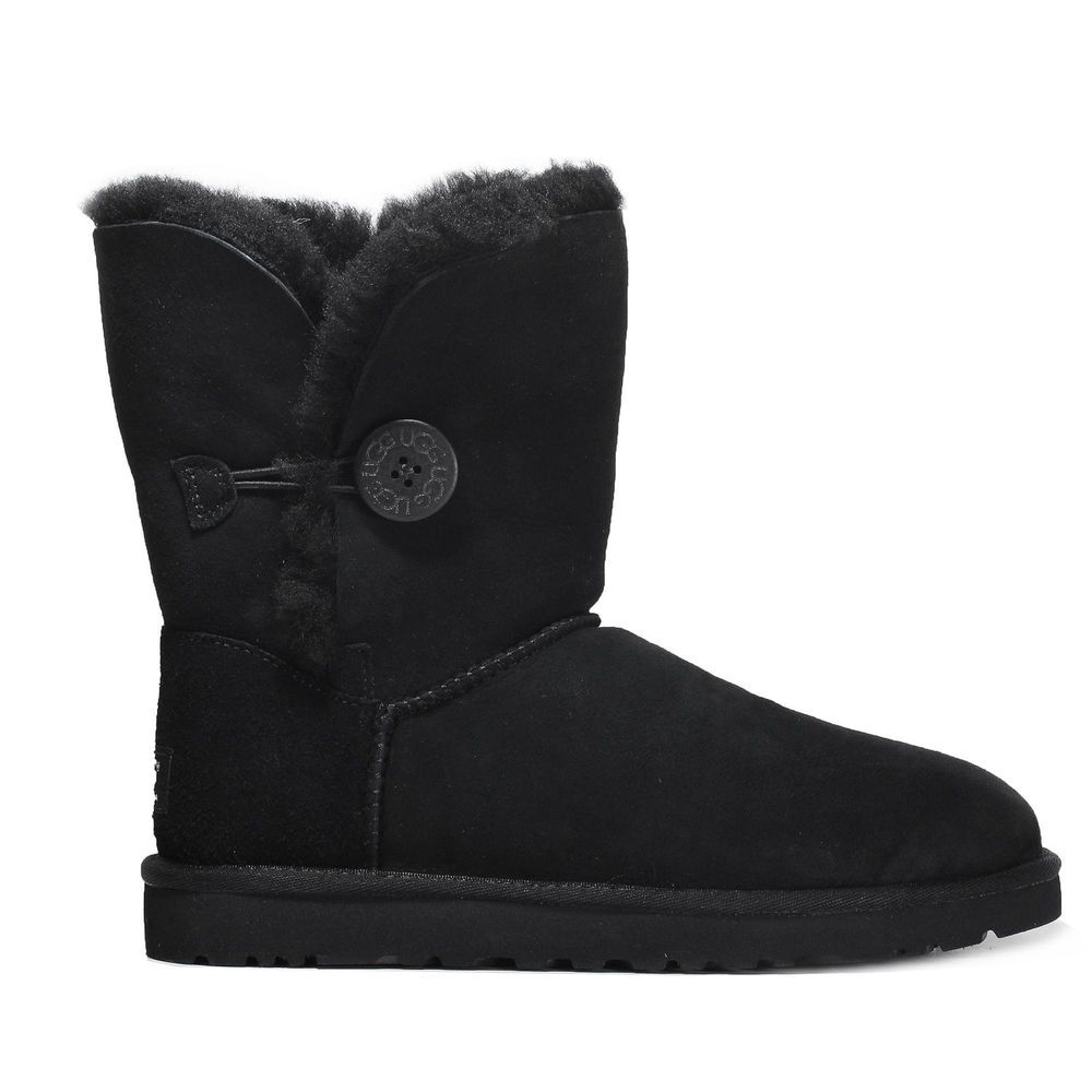 5bcb6966d04 Ugg Women's Bailey Button Ankle Boot Shoes 5803W Black   Boots ...