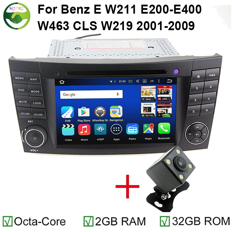 """7"""" Octa Core Android 6.0.1 Tablet PC 1024x600 Car DVD GPS For Mercedes/Benz E Class W211 W209 W219 GPS WIFI 4G Stereo Head Unit"""