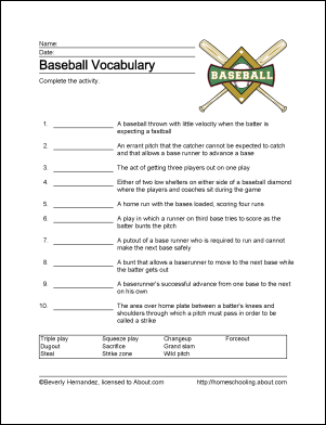 baseball printables worksheets related to the national pastime mosaic kitchen colock. Black Bedroom Furniture Sets. Home Design Ideas