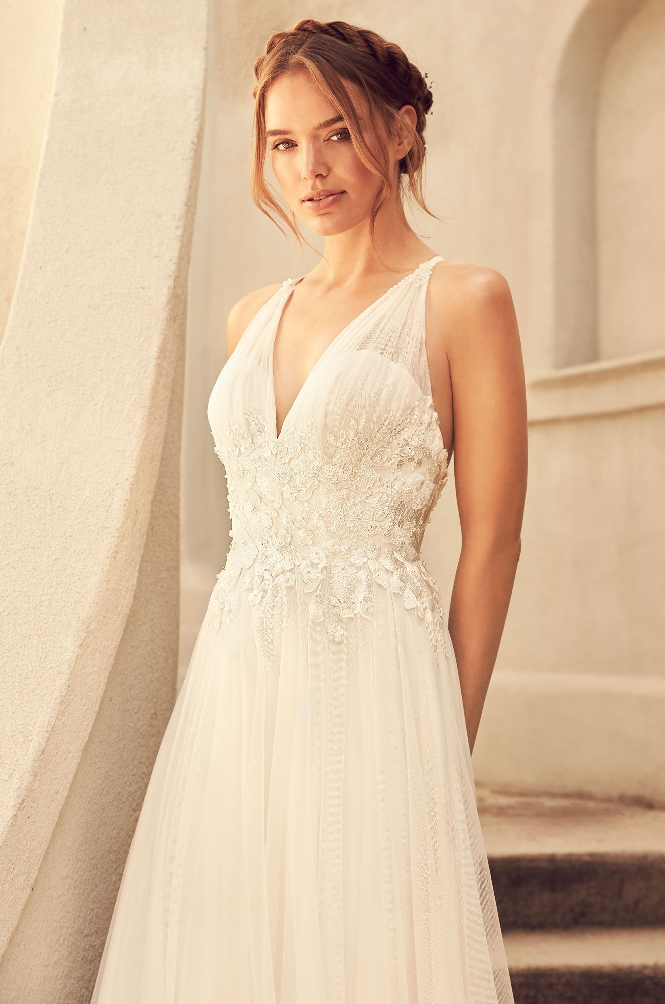 Gathered Tulle Skirt Wedding Dress Style 4782 Wedding Dresses