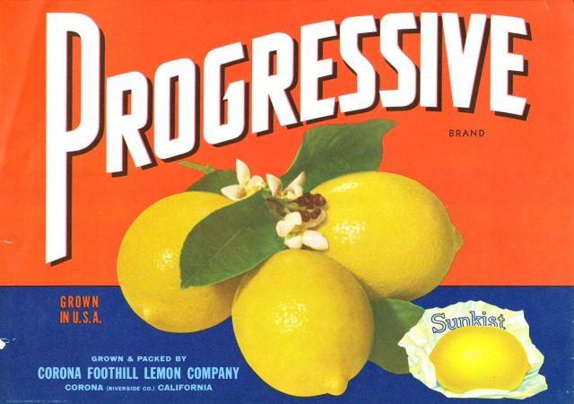 Riverside Ca Progressive Sunkist Citrus Fruit Crate Label Art Print