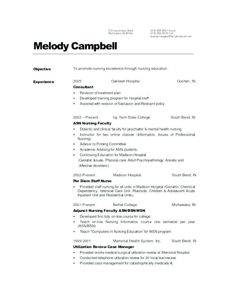 √ 30 Med Surg Nurse Resume | Cover Letter Templates ...