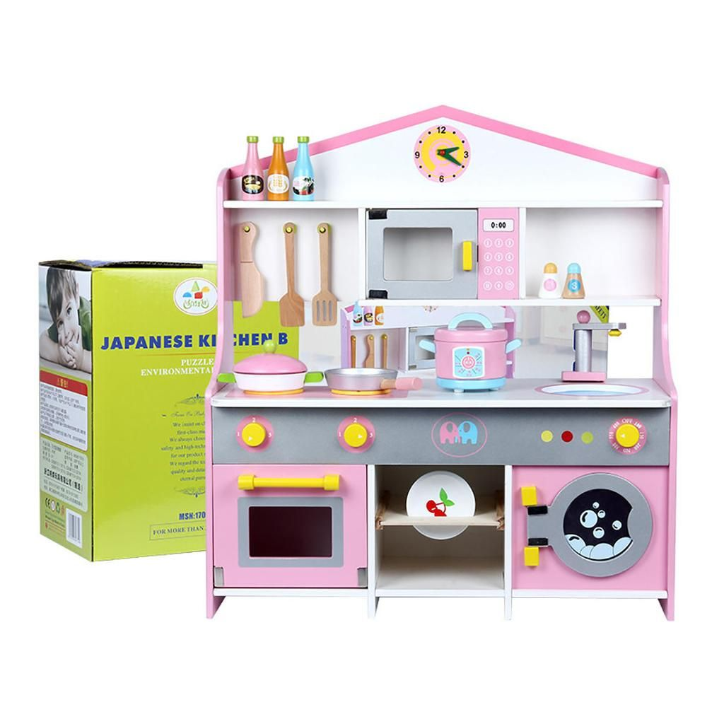 Pretend Play Toddlers Wooden Kitchen Kids Play Toys Wooden